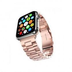 Mercury Armband Apple Watch 4 / 5 / 6 / SE 40mm Edelstahl gebürstet rose gold