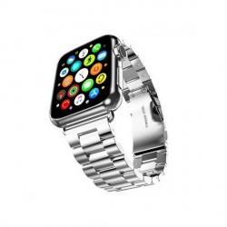 Mercury Armband Apple Watch 4 / 5 / 6 / SE 40mm Edelstahl gebürstet silber