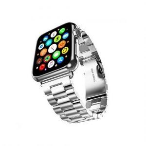 Mercury Armband Apple Watch 4 / 5 / 6 / SE 44mm Edelstahl gebürstet silber