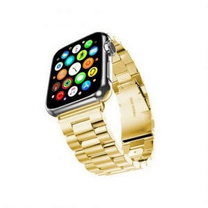 Mercury Armband Apple Watch 4 / 5 / 6 / SE 44mm Edelstahl gebürstet gold