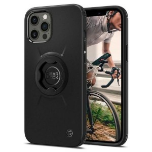 Spigen iPhone 12 / 12 Pro GearLock Hülle / Case / Cover black Bike Mount