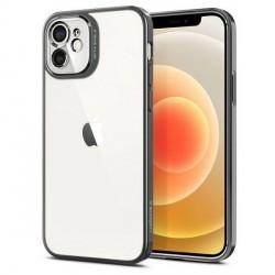 Spigen iPhone 12 Mini Hülle / Case / Cover Optik Crystal Chrome grau