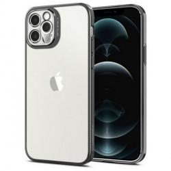 Spigen iPhone 12 / 12 Pro Hülle / Case / Cover Optik Crystal Chrome grau