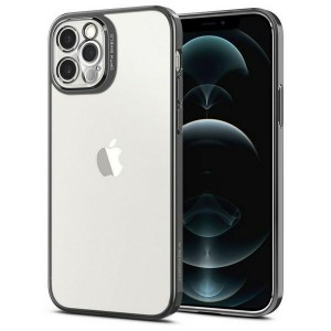 Spigen iPhone 12 / 12 Pro Hülle / Case / Cover Optik Crystal Chrome grau