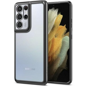 Spigen Samsung S21 Ultra Hülle / Case / Cover Optik Crystal Chrome grau