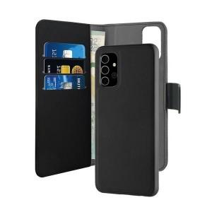 Puro Samsung A32 Wallet Book Tasche + Hülle 2in1 Schwarz