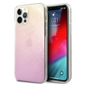 GUESS iPhone 12 / 12 Pro Case Cover Hülle 4G Gradient 3D Pink
