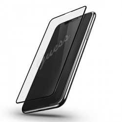 Guess iPhone 12 Pro Max Gehärtetes Glas Transparent / Schwarz GUSPP12LSLTR