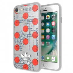 Adidas iPhone SE 2020 / 8 / 7 Hülle / Case / Cover OR Clear Rot
