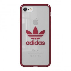 Adidas iPhone SE 2020 / 8 / 7 Hülle / Case / Cover OR Clear ENTRY burgundy