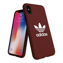Adidas iPhone X / Xs Hülle / Case / Cover Moulded CANVAS maroon