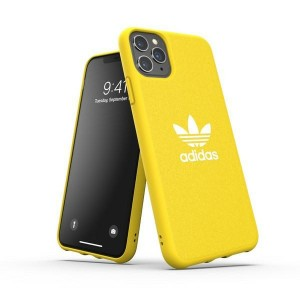 Adidas iPhone 11 Pro Max CANVAS Hülle / Case / Cover Moulded gelb