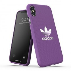 Adidas iPhone XS / X CANVAS Hülle / Case / Cover Moulded lila