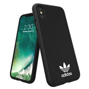 Adidas iPhone XS / X Hülle / Case / Cover OR Moulded Basics schwarz