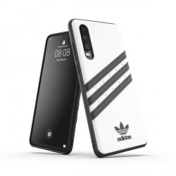 Adidas Huawei P30 OR Moulded PU Case Cover Hülle weiß / schwarz