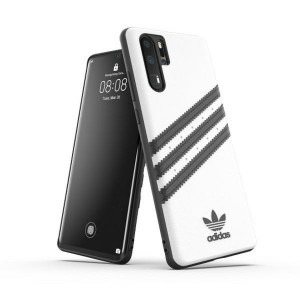 Adidas Huawei P30 Pro OR Moulded PU Case Cover Hülle weiß / schwarz