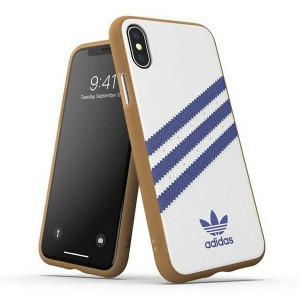 Adidas iPhone X / Xs OR Moulded PU Case Cover Hülle weiß / blau