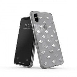 Adidas iPhone XS / X Hülle / Case / Cover OR Snap ENTRY silber