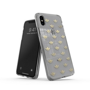 Adidas iPhone XS / X Hülle / Case / Cover OR Snap ENTRY gold