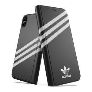 Adidas iPhone Xs Max OR Booklet Case / Tasche schwarz / weiß