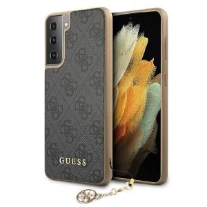 GUESS Samsung S21 Hülle Cover Case 4G Charms Grau GUHCS21SGF4GGR