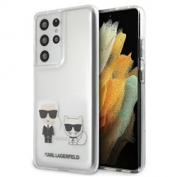 Karl Lagerfeld Samsung S21 Ultra Hülle Cover Case Karl & Choupette Transparent