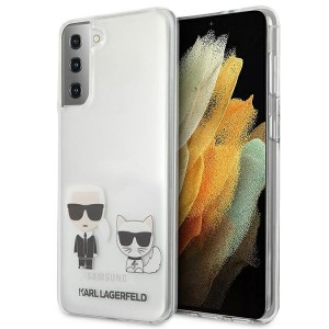 Karl Lagerfeld Samsung S21+ Plus Hülle Cover Case Karl & Choupette Transparent