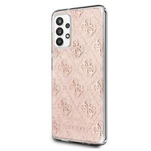 Guess Samsung A32 4G Glitter Hülle Case Cover Pink GUHCA32PCU4GLPI