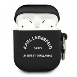 Karl Lagerfeld AirPods 1 / 2 Silikon Hülle RSG schwarz