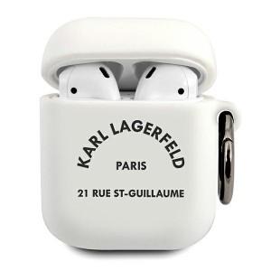 Karl Lagerfeld AirPods 1 / 2 Silicone Hülle RSG weiß KLACA2SILRSGWH