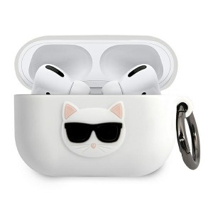 Karl Lagerfeld AirPods Pro Silikon Case Cover Hülle Choupette weiß