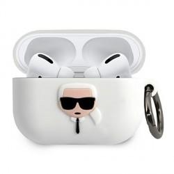 Karl Lagerfeld Silicone Hülle Ikonik AirPods Pro weiß KLACAPSILGLWH