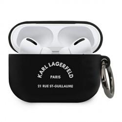Karl Lagerfeld AirPods Pro Silikon Hülle RSG schwarz