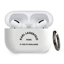 Karl Lagerfeld Silicone Hülle RSG AirPods Pro weiß KLACAPSILRSGWH