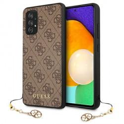 GUESS Samsung A525 / A526 A52 Hülle Cover Case 4G Charms Braun GUHCA52GF4GBR