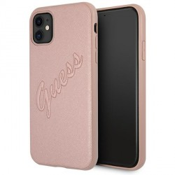 Guess iPhone 11 Hülle Rose Gold Saffiano Vintage GUHCN61RSAVSRG