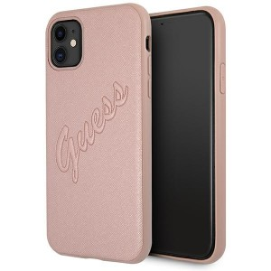Guess iPhone 11 Hülle Rose Gold Saffiano Vintage GUHCN61RSAVSRG