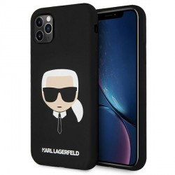 Karl Lagerfeld iPhone 11 Pro Max Hülle / Case / Cover Silicone Karl`s Head