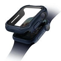 UNIQ 360° Torres Apple Watch Series 4 / 5 / 6 / SE 40mm + 9H Displayschutz blau