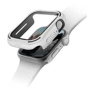 UNIQ 360° Torres Apple Watch Series 4 / 5 / 6 / SE 44mm + 9H Displayschutz weiß