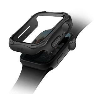 UNIQ 360° Torres Apple Watch Series 4 / 5 / 6 / SE 44mm + 9H Displayschutz schwarz