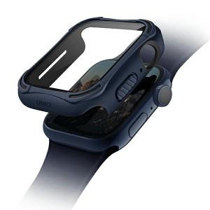 UNIQ 360° Torres Apple Watch Series 4 / 5 / 6 / SE 44mm + 9H Displayschutz blau