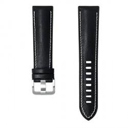 Original Samsung Armband 22mm Kalbsleder Watch3 / Gear S3 schwarz GP-TYR840BRBBW