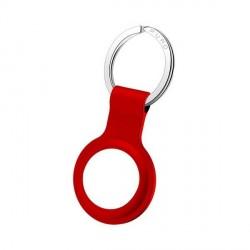 Puro AirTag Case Cover Hülle Schlüsselanhänger ICON Silikon Rot