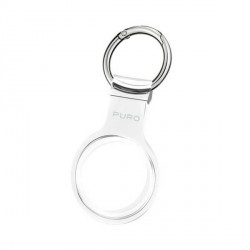 Puro AirTag Case Cover Hülle Schlüsselanhänger Nude Silikon transparent