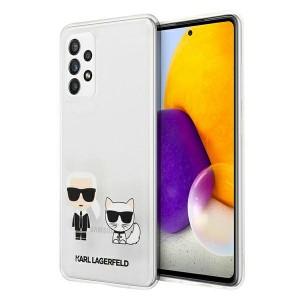 Karl Lagerfeld Samsung A72 Hülle Karl & Choupette Transparent KLHCA72CKTR