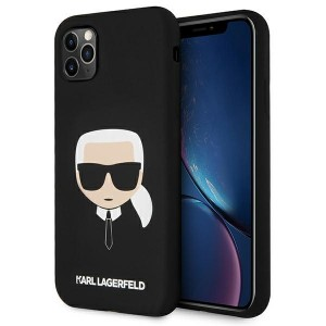 Karl Lagerfeld iPhone 11 Pro Case Cover Hülle Silikon Head schwarz