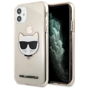 Karl Lagerfeld iPhone 11 Case Cover Hülle gold Choupette Fluo KLHCN61CHTUGLGO
