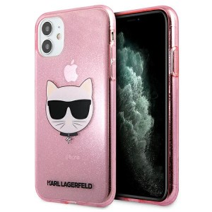 Karl Lagerfeld iPhone 11 Case Cover Hülle rose Choupette Fluo KLHCN61CHTUGLP