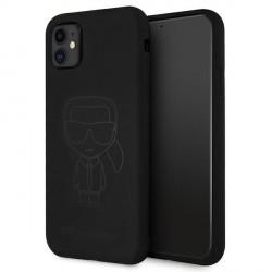 Karl Lagerfeld iPhone 11 Silikon Hülle Ikonik Outline schwarz